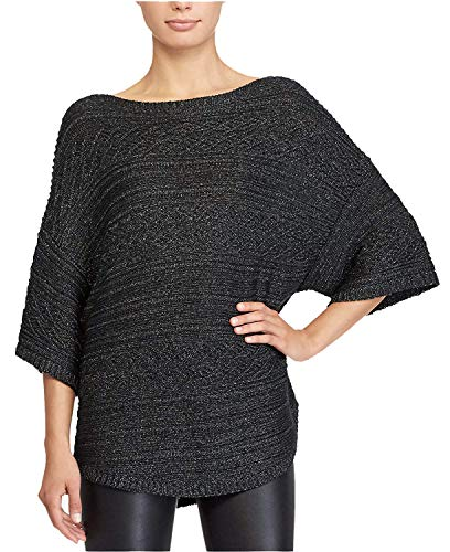 Lauren Ralph Lauren Women's Petite Open-Knit Boat-Neck Sweater Pewter ()