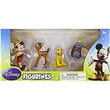 Disney 4 Figurines: Pinocchio, Bambi, Pluto & Dumbo