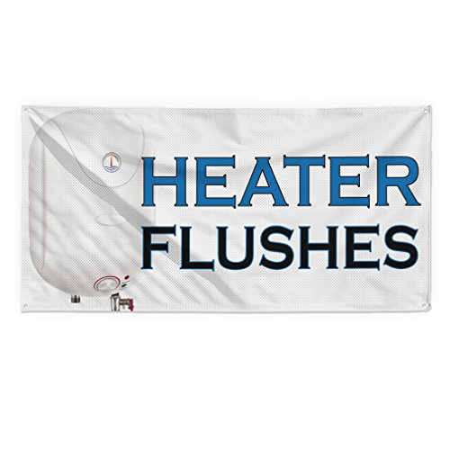 Heather Flushes #2 Outdoor Fence Sign Vinyl Windproof Mesh Banner With Grommets - 4ftx8ft, 8 Grommets Heather Flush