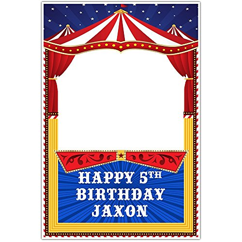 Circus Carnival Birthday Selfie Frame Social Media Photo Booth Prop Poster
