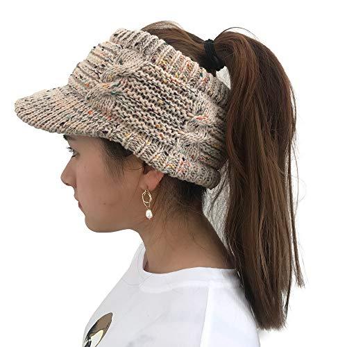 XOWRTE Women Winter Cotton Twist Peaked Knit Wool Hollow Out Multicolor Point Cap Hat ()