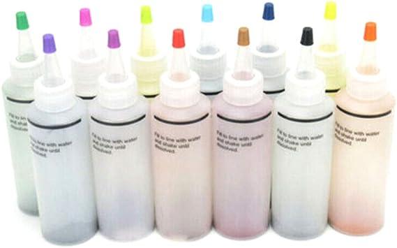 feeilty Tie Dye Pinturas Textiles Ropa Colorida para Manualidades Graffiti Jacquard Pigmento, 12 Piezas Kit Tie Dye No tóxico DIY Prenda Graffiti ...