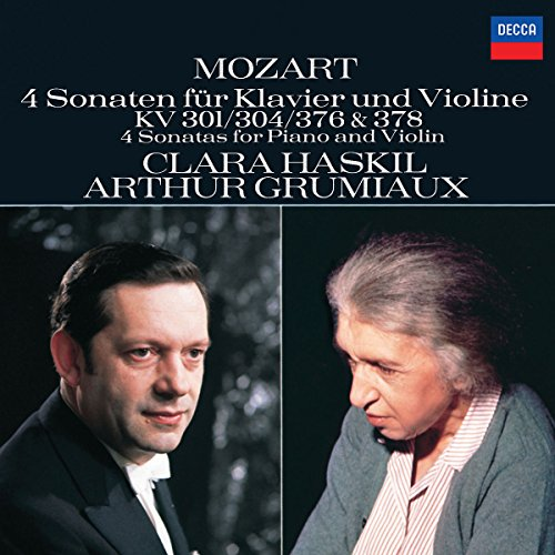 Mozart: 4 Sonatas for Piano and Violin, K. 301 / 304 / 376 & 378