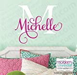 Monogram Personalized Name Vinyl Wall Decal V546 Picture