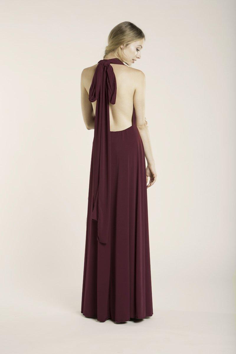 Amazon.com: Prom dress, Burgundy long dress, floor length infininty dress, long party dress, marsala dress, versatile dress, prom dresses, maxi dresses: ...