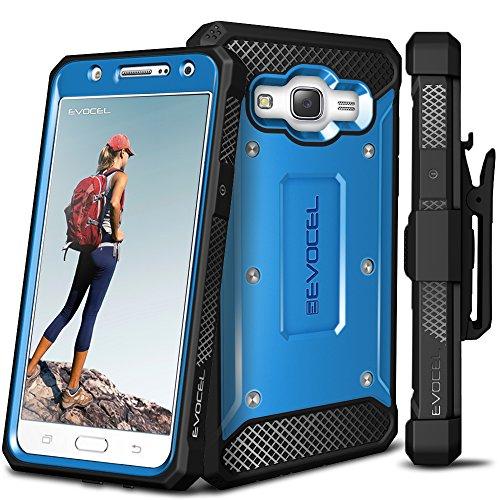 Galaxy J7 (2015) Case, Evocel [Explorer Series] Premium Full Body Case with Rugged Belt Clip Holster for Samsung Galaxy J7 (J700), Blue (EVO-SAMJ7-ZZ02) ()