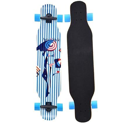 YQQ-MOTION Skateboard 42 Pulgadas Baile Profesional Longboard Crucero Que Dura para Principiantes, niñas