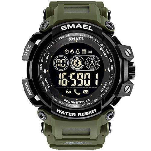 VEHOME Reloj Inteligente SMAEL - Resistente al Agua - Reloj Deportivo Bluetooth - para teléfono móvil Android iOS- relojero Reloj reloje -hombresRelojes de ...