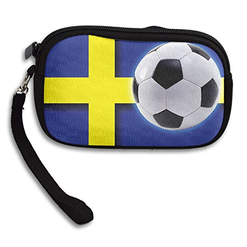 Flag Black Sweden Small Receiving Printing Deluxe Portable Purse Bag Football Team 6xSxAOq