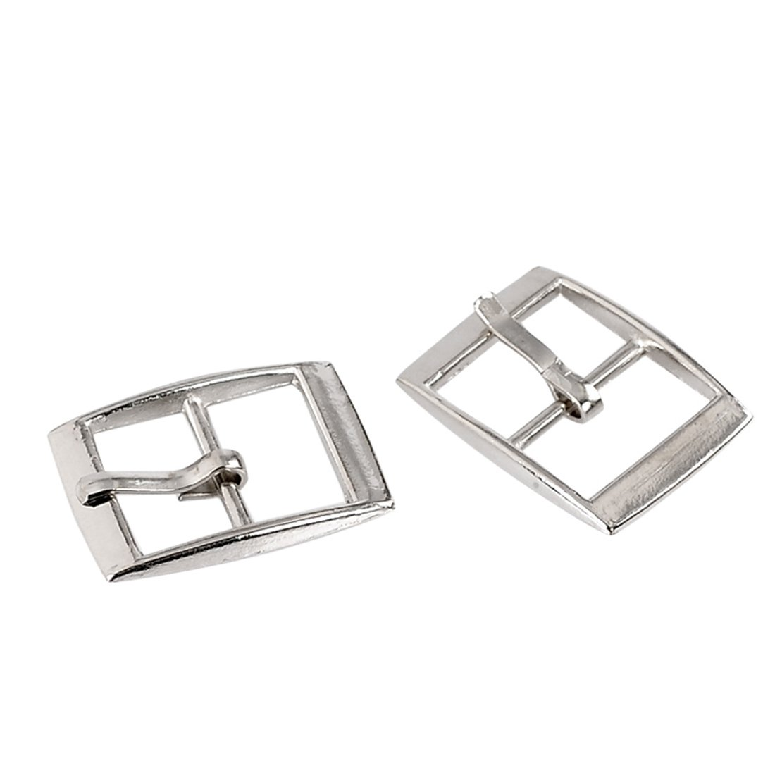 Souarts Silver Tone Color Rectangle Shoe Buckle Accessory Findings Pack of 30pcs