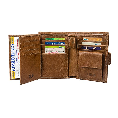- I.M.P Allin1 Genuine Leather RFID Blocking Mens Wallets Trifold
