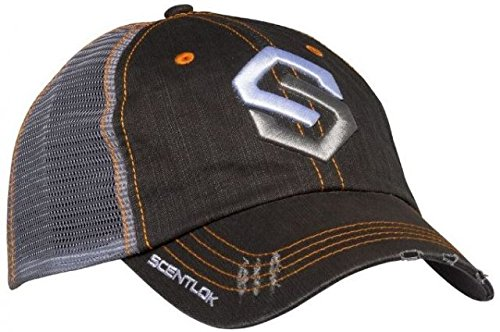 ScentLok Mens Logo Hat (Distressed Black, One Size)