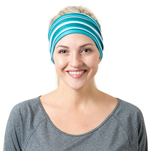 Teal Striped Headband  One Size Striped Baseball Pant