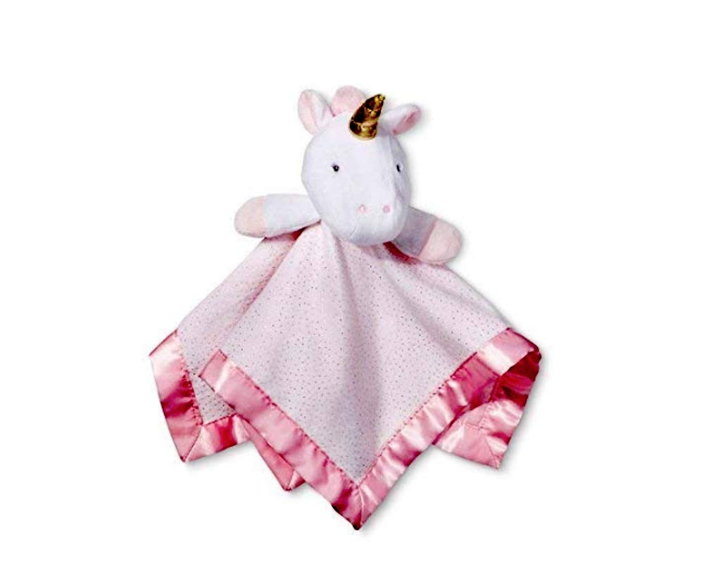 Cloud Island Small Security Blanket Unicorn Light Pink