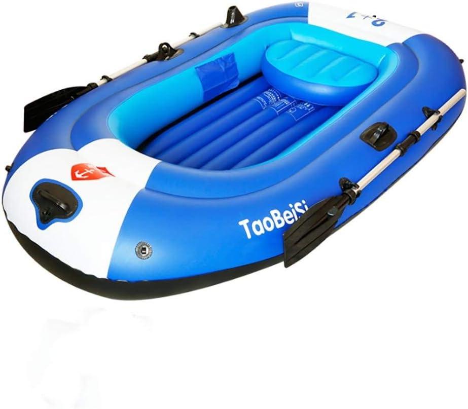 ゴムウェアラブルインフレータブルボート釣り折りたたみ式スチームボート直接カヌー3人乗りダブルファースト4人セットアルミオールと高出力エアポンプ