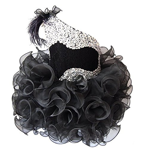 ChengCheng Infant Baby Kids Pageant Lace Prom Cupcake Pageant Dress 6M Black