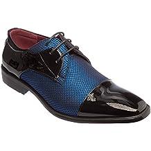 Alberto Fellini Mens Lace-up Oxford Cap-Toe Dress Shoes