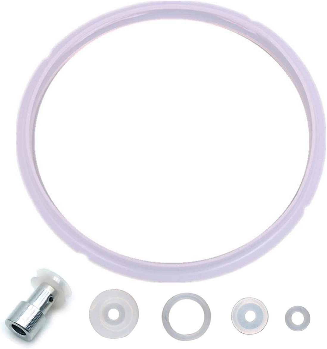 Universal Replacement Silicone Sealing Gaskets Float Valve Sealer Parts Set for 5 or 6 Quart Pressure Cooker Models for YBD60-100, PPC780, PPC770 and PPC790