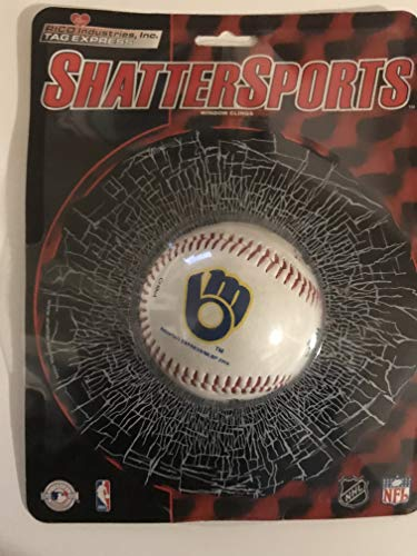 MILWAUKEE BREWERS Shatter BaseBall WINDOW CLING Decal