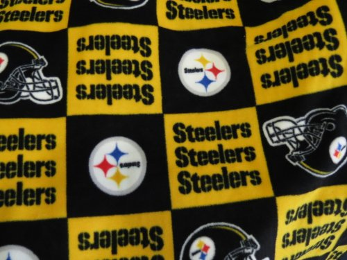 Pittsburgh Steelers Fleece 58 Inches Fabric By the Yard (F.E.®) from The Fabric Exchange