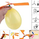 Moonuy Balloon Helicopter Flying aircraft flying toys for kids Child Birthday Xmas Party Bag Stocking Filler Gift Suitable for 3-5 years old. (A)