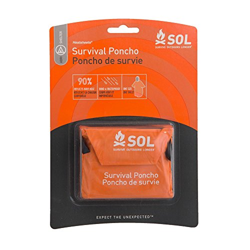 Adventure Medical Kits Emergency Longer Poncho Perfect for Outdoors Hiking & Survival 2.3 Ounce ()