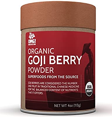 OMG! Superfoods Organic Goji Berry Powder - 100% Pure, USDA Certified Organic Goji Berry Powder - 4oz