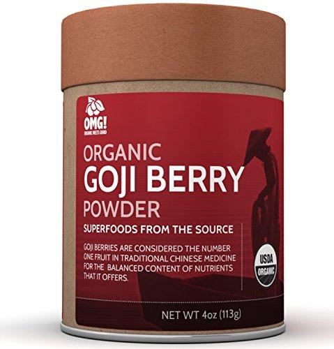 OMG! Superfoods Organic Goji Berry Powder - 100% Pure, USDA Certified Organic Goji Berry Powder - (100% Pure Goji Juice)