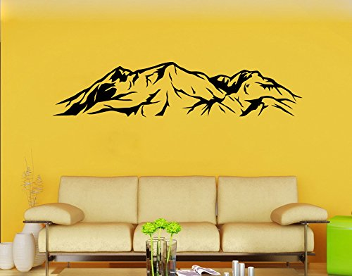 Mountains Wall Sticker Mountain Range Vinyl Decal Nature Wall Decor Wall Art Decorations - Stove Stickers