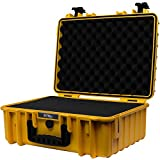 STR8Brand STR8 Brand 17'' Weather Resistant, Smellproof, Lockable, Glass Protector, Outdoor Carrying Case for Multi-Purpose with Pluck Foam (Canary Yellow)