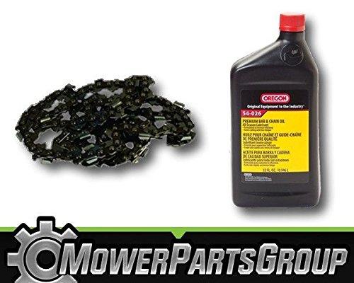 MowerPartsGroup P051 (1) Oregon 91PX056G 3/8LP .050 56DL 16'' Chainsaw Chain & 1QT Bar/Chain Oil