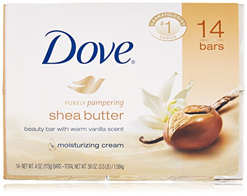 Dove Shea Butter Soap Bars, 14 Count (Golden Shea Butter)