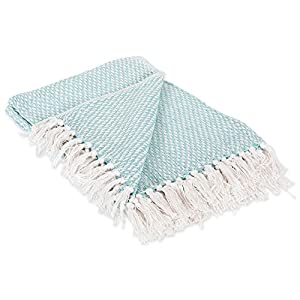 DII Rustic Farmhouse Blanket with Decorative Tassles, Use for Chair, Couch, Bed, Picnic, Camping, Beach, Just Staying Cozy at Home