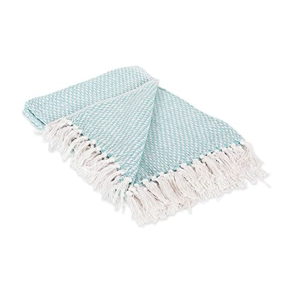DII 100% Cotton Basket Weave Throw for Indoor/Outdoor Use Camping Bbq's Beaches Everyday Blanket -  - blankets-throws, bedroom-sheets-comforters, bedroom - 513BHPPZuZL. SS570  -