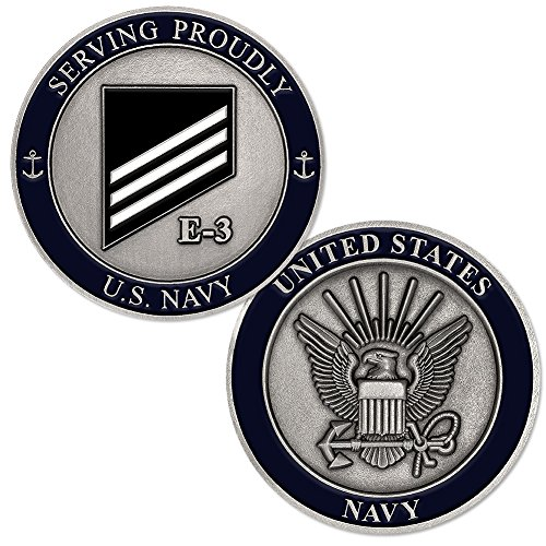 (U.S. Navy Rank E-3 White Seaman Challenge Coin)