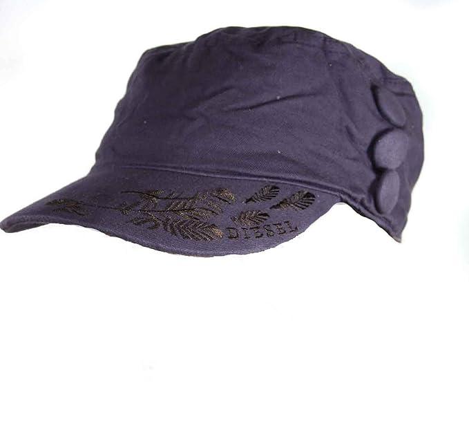 Diesel Gorra Berretto Ejército Sosimmy Púrpura - algodón, violeta, 100% algodón; % viscosa % 100% algodón poliéster, Unisex, 3: Amazon.es: Ropa y accesorios