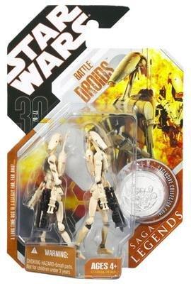 Star Wars Saga Legends Figure - Battle Droids (Regular Tan)