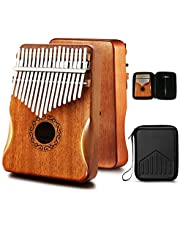 MIFOGE Kalimba Thumb Piano 17 Keys with Mahogany Wood,Mbira,Finger Piano Builts-in Waterproof Protective Box, Easy to Learn Portable Musical Instrument,Gift for Kids Adult Beginners photo