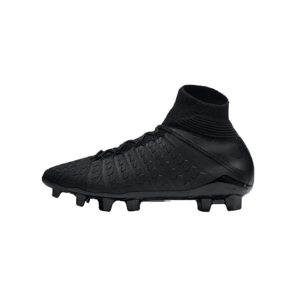 5.5 Nike Junior Hypervenom 3 Elite DF FG Soccer Cleats Black