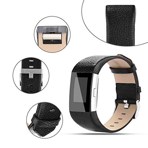 For Fitbit Charge 2 Bands, Genuine Leather Replacement Bands for Fitbit Charge 2