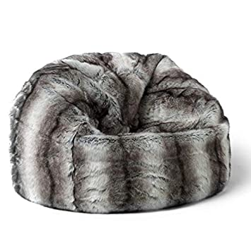 Icon Large Childrens Classic Faux Fur Bean Bags Bavarian Wolf Grey