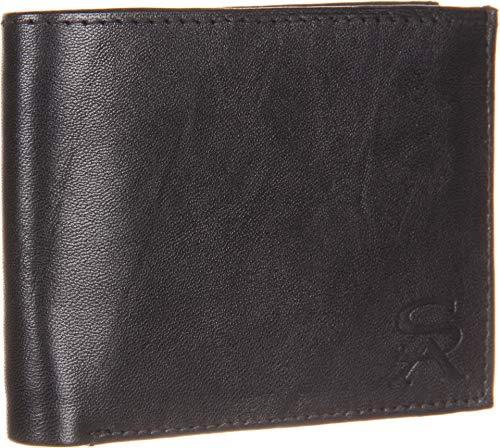 Stacy Adams Men's Bi-Fold Wallet Black One ()