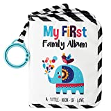 Urban KiddyTM Baby's My First Family Album | Soft Photo Cloth Book Gift Set for Newborn Toddler & Kids (Elephant)