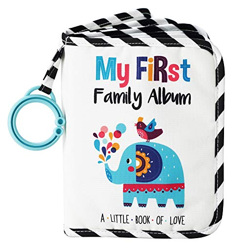 - Urban KiddyTM Baby's My First Family Album | Soft Photo Cloth Book Gift Set for Newborn Toddler & Kids (Elephant)