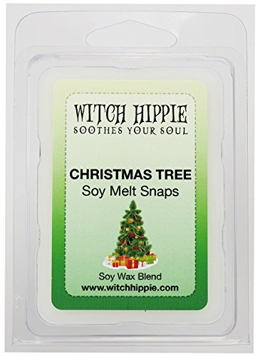 Christmas Tree Scented Wickless Candle Tarts, 6 Natural Soy Wax Cubes By Witch Hippie (Tree Picks Antler Christmas)