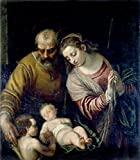 Cutler Miles Holy Family With St John by Paolo Veronese Hand Painted Oil on Canvas Reproduction Wall Art. 27x30