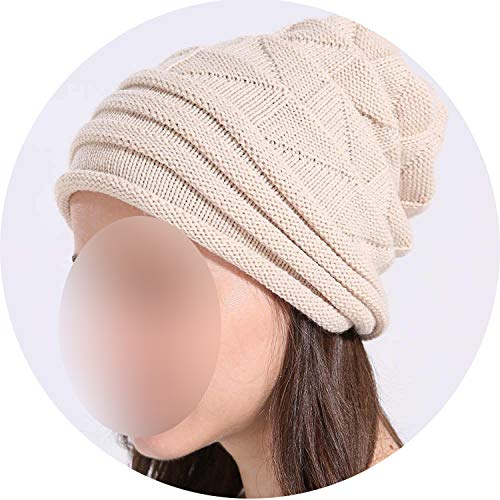 Women's Cotton Winter Hat Women Girl Beanie Hat Double-Deck for sale  Delivered anywhere in Canada