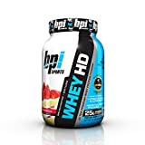 BPI Sports Whey HD Ultra Premium Protein Powder, Strawberry Cake, 1.7 Pounds