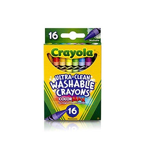 Crayola 526916 Ultra-Clean Washable Crayons, Regular, 8 Colors (Box of 16 Crayons)