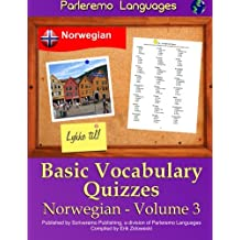 Parleremo Languages Basic Vocabulary Quizzes Norwegian - Volume 3